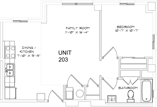 The Enclave at Meridian Apartments 1 Bedroom