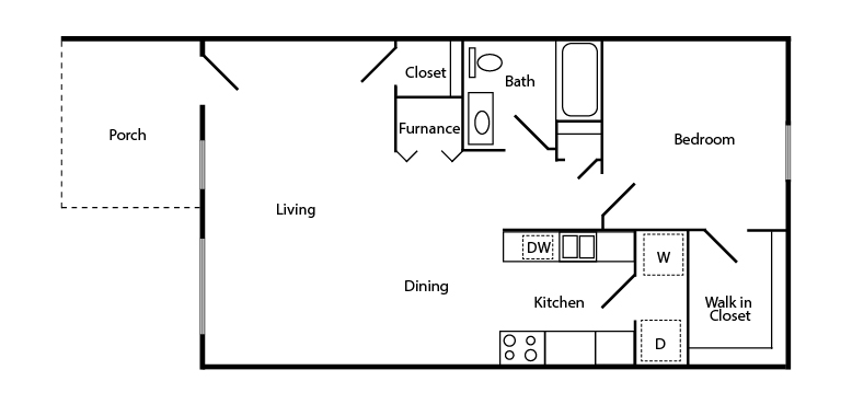 Franklin Place Apartments 1 Bedroom