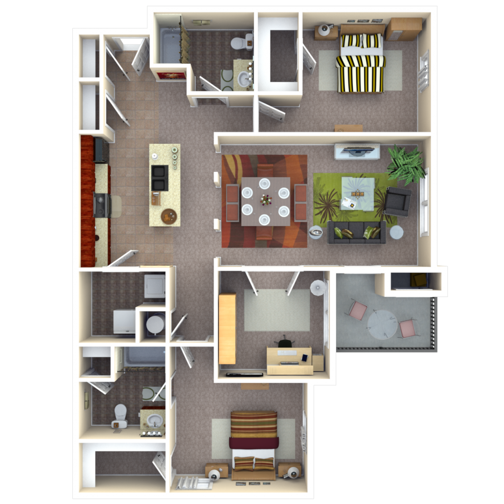 Copper Chase At Stones Crossing Apartments Floor Plan Gallium