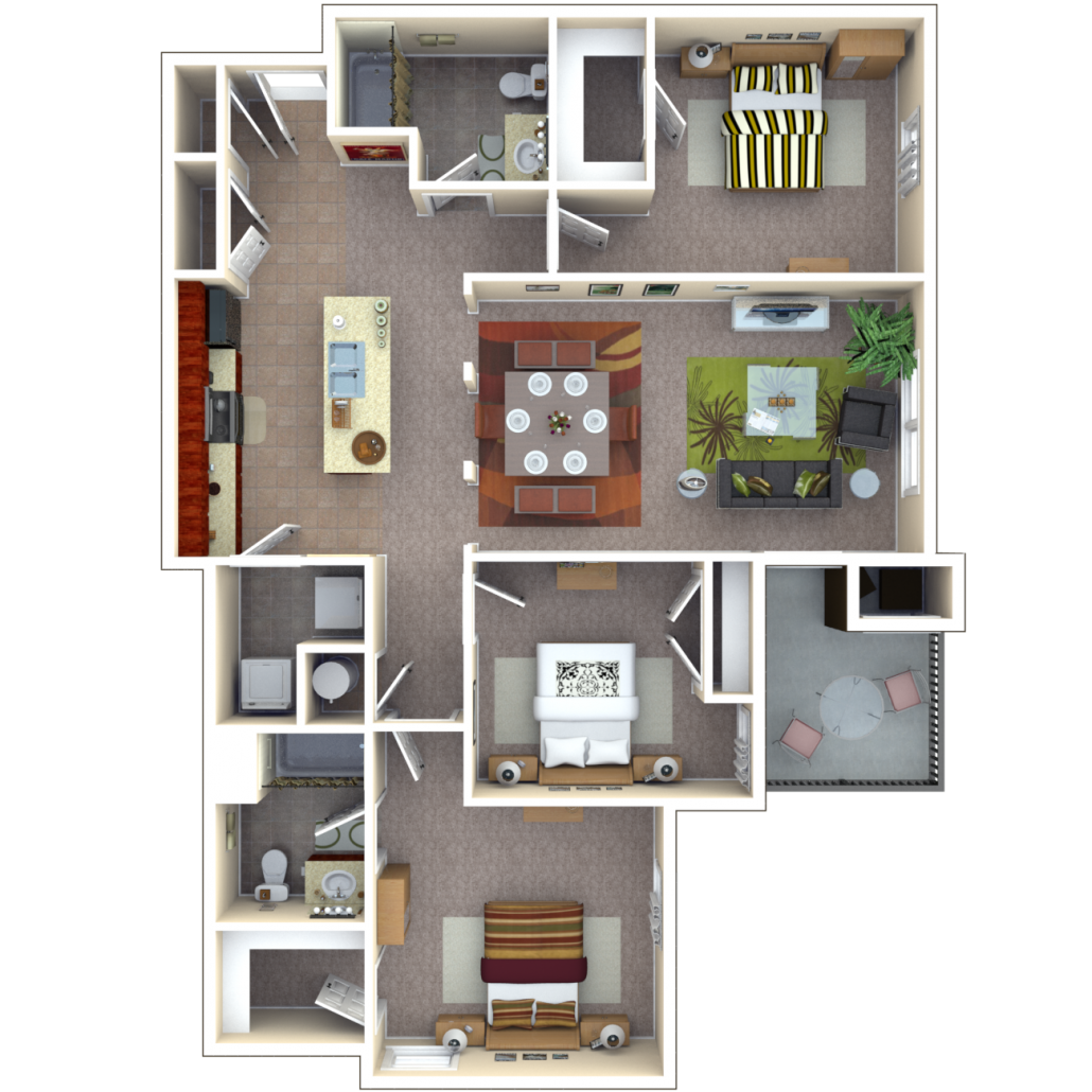 Copper Chase At Stones Crossing Apartments Floor Plan Platinum