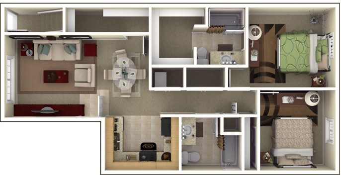 The Commons at Spring Mill Apartments Fitness Center 2 Bedroom